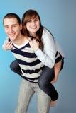 富感情的有吸引力的夫妇年轻人 免版税图库摄影