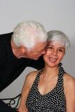 富感情的有吸引力的夫妇成熟 免版税图库摄影