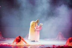 富感情的眼睛特性和歌曲押韵中国民间舞 库存图片