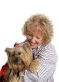 富感情的责任人宠物 免版税图库摄影