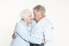 富感情的资深夫妇 免版税图库摄影