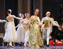 富有和壮观的女王/王后这芭蕾胡桃钳 库存图片