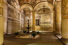 富有的内部Palazzo Vecchio (老宫殿) 免版税图库摄影