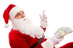 富有的圣诞老人 图库摄影