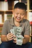 富有的孩子 库存照片