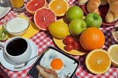 富有的早午餐 库存照片