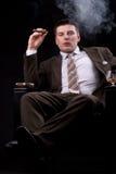 富有的生意人雪茄 库存照片
