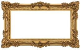 富有的金黄巴洛克式的框架 图库摄影