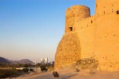 富查伊拉,阿拉伯联合酋长国- 2014年12月:对老富查伊拉堡垒Al位的看法 免版税库存照片