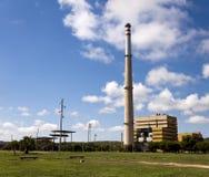 富瓦热电厂在屈贝莱,巴塞罗那,西班牙 免版税图库摄影