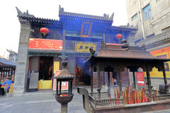 财富的神Alace在xian chenghuangmiao寺庙的 库存照片