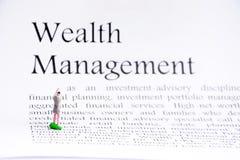 财富管理企业概念 免版税库存照片