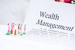 财富管理企业概念 免版税库存图片