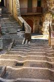 富莫内,中世纪村庄在意大利 库存照片