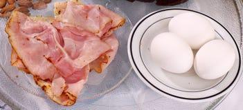 富蛋白质的快餐 免版税库存照片