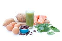 富蛋白质的superfood饮食 免版税图库摄影