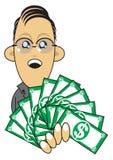 富裕生意人的例证 免版税库存图片