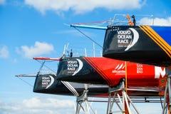 富豪集团海洋种族小船弓的特写镜头  库存图片