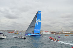 富豪集团海洋种族队Vestas风离去 库存照片