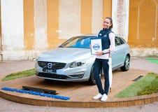 富豪集团混合动力车辆v60模型 免版税图库摄影
