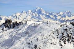 寒假在阿尔卑斯 库存照片