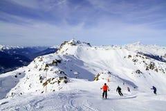 寒假在阿尔卑斯 免版税库存图片