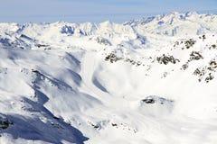 寒假在阿尔卑斯 免版税库存照片
