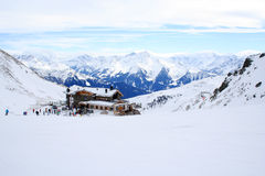 寒假在阿尔卑斯 免版税图库摄影