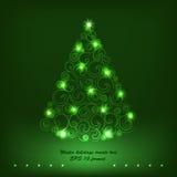 寒假装饰树。 免版税图库摄影