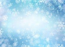 寒假雪背景 免版税库存照片