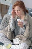 寒冷和流感季节 库存照片