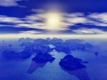 寒冷的海岛 库存图片