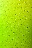 寒冷结霜的啤酒瓶的宏指令 免版税库存照片
