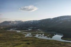 寒带草原风景在北瑞典 库存照片