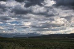 寒带草原风景在北瑞典 库存图片