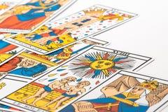 洞察力占卜用的纸牌 免版税图库摄影