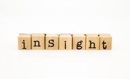 洞察字词、智力和知识概念 免版税图库摄影