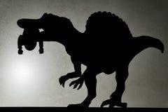 察觉一spinosaurus的轻的投射阴影与一具尸体的 库存照片