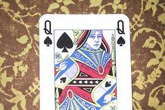 黑寡妇卡片 免版税库存照片