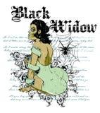黑寡妇 库存照片