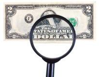 寸镜迅速移动钞票 免版税库存图片