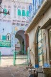 对一个房子的入口在乔德普尔城 免版税库存图片