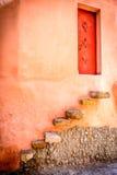 对一个房子的门taghazoute的,摩洛哥 库存图片