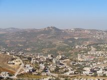 对一个村庄的看法在约旦 库存图片
