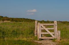 对一个领域的一个门在丹麦 免版税图库摄影