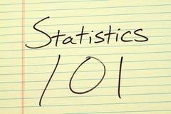 对一本黄色便笺簿的统计101 免版税图库摄影