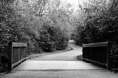 对一条有风路的桥梁 免版税库存照片