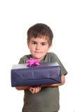 对一点负的配件箱男孩当前 库存图片