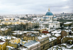 对三位一体Izmailovsky大教堂的看法在圣彼德堡 图库摄影