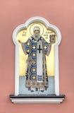 对三位一体troyeshchina的结构大教堂神圣洁基辅安排服务 萨拉托夫,俄罗斯 图库摄影